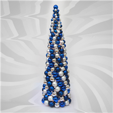 Lighted Ornament Ball Tree 48 Blue Silver