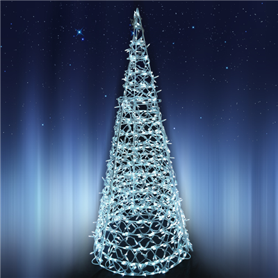 72 lighted 3d large cone tree clear bulbs holidynamics holiday lighting solutions