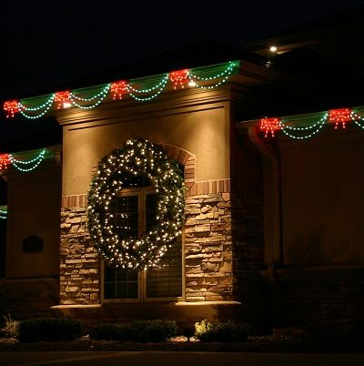Clear Christmas Lights With Green Cord