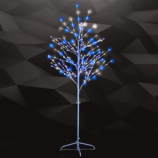6 Led Capped Tree Blue White Holidynamics Holiday