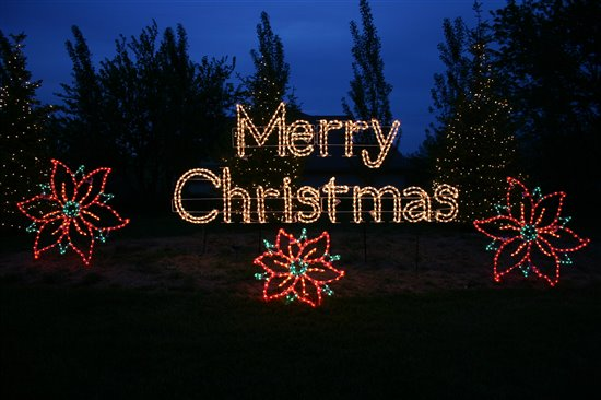 18 Led Merry Christmas Sign Classic White