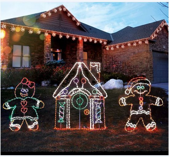 "53"" LED Lighted Gingerbread Boy - Holidynamics - Holiday ..."